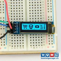 OLED Display Blau I2c 128x32 0.91''