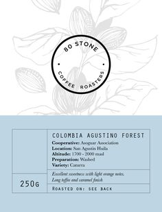 This is one of the labels I designed for 80 Stone Coffee Roasters. The label features the logo I designed for them, a handmade illustration and a muted colour palette. The idea is to reflect the organic, rustic way this coffee is roasted, using a 1950's Italian roasting machine.