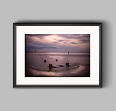 Another Place, the Antony Gormley iron man sculptures in Crosby #photography #landscape #print #canvas #seascape #art #wall art