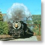 Steam locomotives excite the senses and Steamtown keeps their stories alive!. A steam locomotive pulls a seasonal passenger excursion