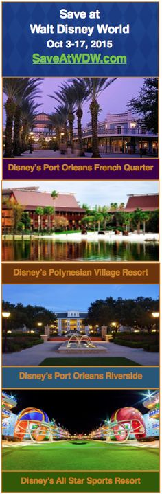 Don't miss this amazing offer for October 2015 at Walt Disney World