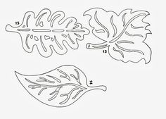 őszi ablakképek sablon - Google keresés Leaf Template, Stencil Templates, Stencil Patterns, Quilt Patterns, Autumn Crafts, Autumn Art, Kirigami, Diy And Crafts, Paper Crafts