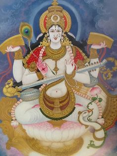 What a lovely picture of the Goddess Saraswathi!