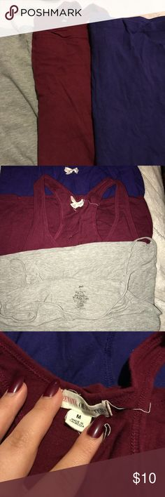 Set of 3 tank tops! Great for layering. These were worn once. Great long tank tops to wear under anything. Tops Tank Tops