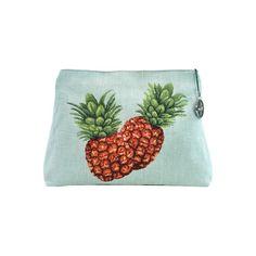 Pochette femme Pineapple blue background - Cosmetic bags - Art de Lys