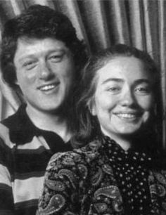 Famous Couples - Bill Clinton & Hillary Rodham  - So young! Obviously both had make overs!!