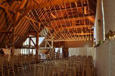 Single swag fairy light canopy at Ufton Court for a spring wedding
