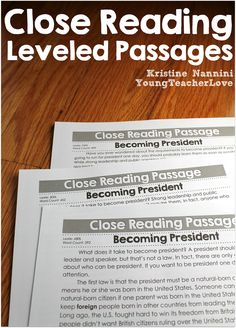 Presidents Day Close Reading Passages, Text-Dependent Questions & More- Young Teacher Love by Kristine Nannini