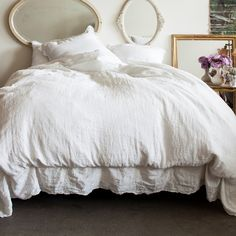 Linen Embroidered Bedding Collection