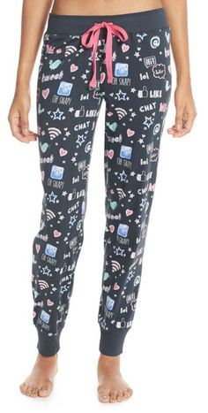 The perfect pajama bottoms for anyone that loves social media