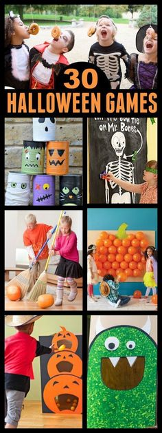 Try some of these easy Halloween crafts for kids. These easy Halloween crafts for kids are fun for all ages. Find over 20 Kids crafts for Halloween everyone will have a blast doing! Halloween Party Kinder, Soirée Halloween, Adornos Halloween, Halloween Games For Kids, Holidays Halloween, Ideas For Halloween Party, Haloween Games, Halloween Party Activities, Haloween Party