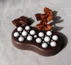 Chocolate massage soap bar packaged in a craft by WelcomeToUkraine