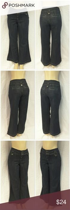 """40% BUNDLE DISCOUNT! FREE SHIPPING ON BUNDLES!! * Plus* BOOM BOOM Long / Tall Denim Jeans, size 14 See Measurements, wide hemline, 3"""" wide waistband, double exposed button closure on waistband, dark wash, stretchy lightweight material, machine washable, 75% cotton, 24% polyester, 1% spandex, approximate measurements: 20"""" waist laying flat, 32"""" inseam, 2,75"""" zipper, 10"""" rise.  ADD TO A BUNDLE!  40% BUNDLE DISCOUNT! FREE SHIPPING ON BUNDLES!! ?OFFER? $6 LESS ON BUNDLES! Only ?offers? of $6…"""