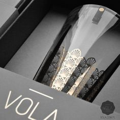 Hand blown glass & finest porcelain with unique 24k gold decorations. Shop online at... : http://www.vola.com.pl #vola #art #deco #porcelain #glass #24k #gold #exclusive #gift #packaging #design #branding