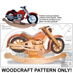 38 Best Wooden Motorcycle Rocker Images On Pinterest Wooden Toys