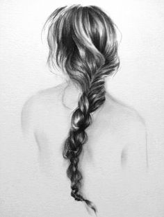 "Original charcoal drawing of ""Rapunzel"" - 8X10. $50.00, via Etsy."