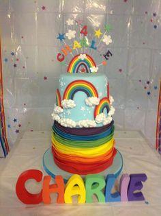 Rainbow. Love this! Ruffles and rainbow