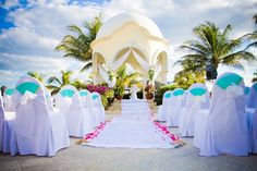 A beautiful ceremony setup at the Gazebo! The Gazebo can accommodated up to 150 people #SecretsCapri