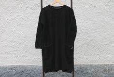 Knitted LBD 65%wool 35%alpaca. Lbd, Wool, Black, Dresses, Fashion, Gowns, Moda, Black People, Fashion Styles