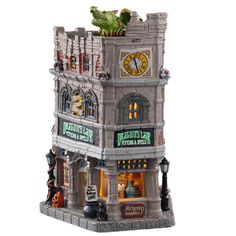 Lemax decorative villages are a holiday tradition made with old-world craftsmanship, combined with new-age technology. Village Lemax, Lemax Christmas Village, Halloween Village Display, Halloween Decorations, Christmas Shopping Online, Online Shopping, Dragon's Lair, Light Building, Balloon Rides