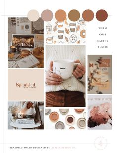 Autumn Rustic Mood Board Mood board for branding design and … – Bloğ Rustic Color Palettes, Orange Color Palettes, Earthy Color Palette, Rustic Colors, Colour Pallette, Muted Colors, Cosy Aesthetic, Cream Aesthetic, Orange Aesthetic