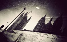 Gavin Hammond has taken the stereotypical idea that it is always raining in Britain, and turned it into a photographic art project. He has captured London's landmarks reflected in puddles and wet pavements.    The Houses of Parliament reflected in a puddle