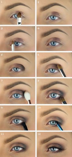 Eye makeup brown eyes.   Wan na find makeup for blue eyes that is  one of the most  complementary  as well as  likewise appropriate for  any type of  event See our collection of the prettiest  make-up looks.  Click visit link to read more -- Eye shadow makeup tips #applymakeup #makeupideas