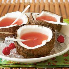 Pink Bikini: - raspberry lemonade, coconut rum, and amaretto. makes my mouth water!!!.