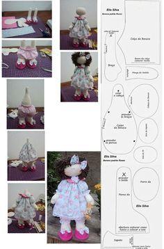 Tilda doll Nursery doll Fabric doll Puppen Interior doll Textile doll Handmade doll Bonita doll Brown doll Cloth doll Bambole by Tanya E Doll Sewing Patterns, Sewing Dolls, Doll Clothes Patterns, Doll Crafts, Diy Doll, Homemade Dolls, Fabric Toys, Doll Tutorial, Soft Dolls
