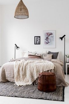 neutral bedroom I could spend all day in