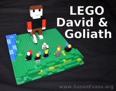 When reading the story of David and Goliath to your kids, why not have them re-enact the story with LEGOs? My kids created a scene on a green LEGO base Lego Activities, Bible Activities, Craft Activities For Kids, Sunday School Crafts For Kids, Sunday School Lessons, Bible Study For Kids, Bible Lessons For Kids, Vbs Crafts, Bible Crafts