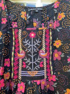 Gudrun-Sjoden-Floral-Bird-Embrodered-tunic-dress-L-16-Organic-Cotton