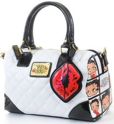 4df3b2f71a87 Tote all your goodies wherever you go in this adorable Betty Boop Fashion  Handbag! It features Vegan friendly faux leather quilted upper