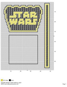STAR WARS SQUARE BASKET by JODY 2/2 Plastic Canvas Stitches, Plastic Canvas Coasters, Plastic Canvas Crafts, Plastic Canvas Patterns, Star Wars Pc, Star Wars Room, Star Wars Party, Plastic Baskets, Candy Baskets