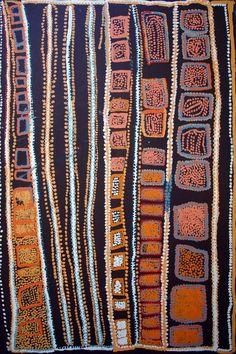 Pinkalarta by Alma Webou (Kalaju) Aboriginal Painting, Aboriginal Artists, Dot Painting, Indigenous Australian Art, Indigenous Art, Polychromos, Native Art, Tribal Art, Indian Art