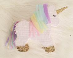 Piñata de unicornio mini Piñata personal por darlingdetailsparty