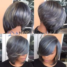 STYLIST FEATURE| This #grey #quickweave bob✂️ done by #WestPalmBeachStylist…
