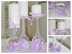 Bilderesultat for borddekorasjoner Entertainment Table, Candle In The Wind, Candle Stand, Decoration Table, Purple Wedding, Holidays And Events, Pillar Candles, Christening, Wedding Planner