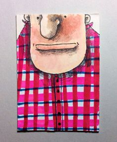 Plaid Shirt ACEO by Aaron Butcher on Etsy, $5.00