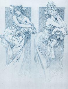 liucid: Sketches by artist Alphonse Mucha. - Fuck Yeah Alphonse Mucha