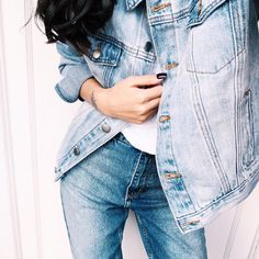 idressmyselff:  Double denim! All H&M! Keep up to date with me on instagram - prettysickly