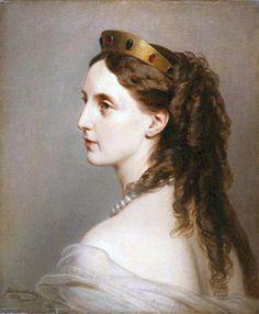 1869 Olga by Franz Xaver Winterhalter (State Pushkin Museum - Moskva Russia) APFxDru 4Apr12