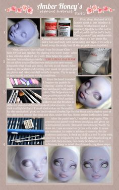 Monster High Doll Repaint tutorial - part 1 - by Amber Honey via DeviantArt Monster High Art, Custom Monster High Dolls, Monster Dolls, Monster High Repaint, Custom Dolls, Doll Repaint Tutorial, Art Doll Tutorial, Doll Making Tutorials, Making Dolls