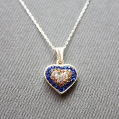 Sterling Silver Heart Necklace  Heart Charm by LibertaFashion, $23.50