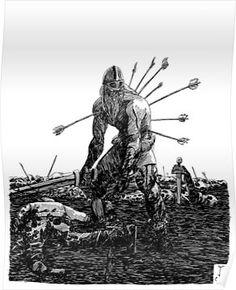 Keep flingin' those pointy sticks, cum bubble, I'm fixin' to get mad! Vikings Time, Norse Vikings, Viking Art, Viking Warrior, Berserker Tattoo, Viking Berserker, Nordic Runes, Knight Tattoo, Military Drawings