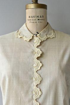 Lorelie blouse 1950s linen blouse vintage 50s by DearGolden