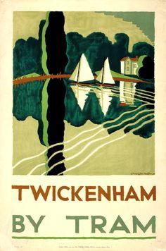 London Transport poster 1923,Edward McKnight Kauffer