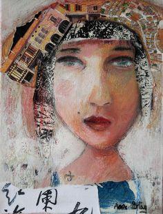 mixed medias on canvas 18X24cm