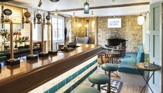 Boutique Cotswolds Hotel: The Old Stocks Inn, Stow. The Bar Designed by Jordan Littler Interiors