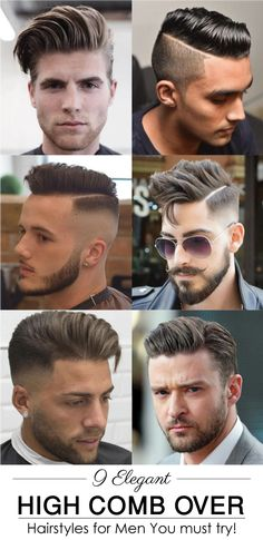 In this hair collection you may find something new for this summer. We've got 9 Elegant High comb over for men, in any of this hairstyle you may look more elegant. All of the hair styles are very much stylish which you may try and apply in you cause in this hair style you can visit anywhere weather it is a marriage ceremony or it is